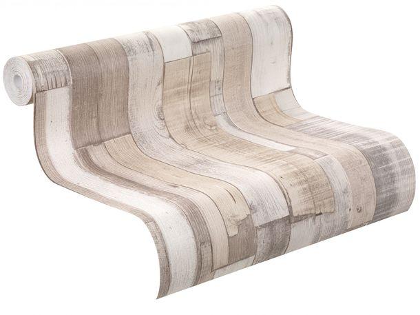 Vliestapete Factory 2 Rasch Tapeten 446715 Holzoptik Patina beige hellgrau online kaufen