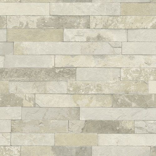 Wallpaper 3D stone wall bricks grey brown Rasch 475111  online kaufen