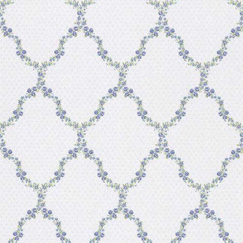 wallpaper cottage style flowers blue green Rasch Textil wallpaper Petite Fleur 3 285368 online kaufen