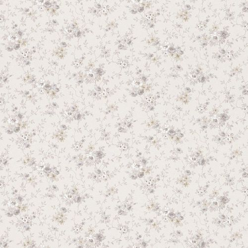 wallpaper flowers grey beige metallic Rasch Textil wallpaper Petite Fleur 3 285115 online kaufen