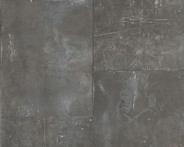 non-woven wallpaper plain design dark grey wallpaper Lutèce New England 2 96223-2 online kaufen