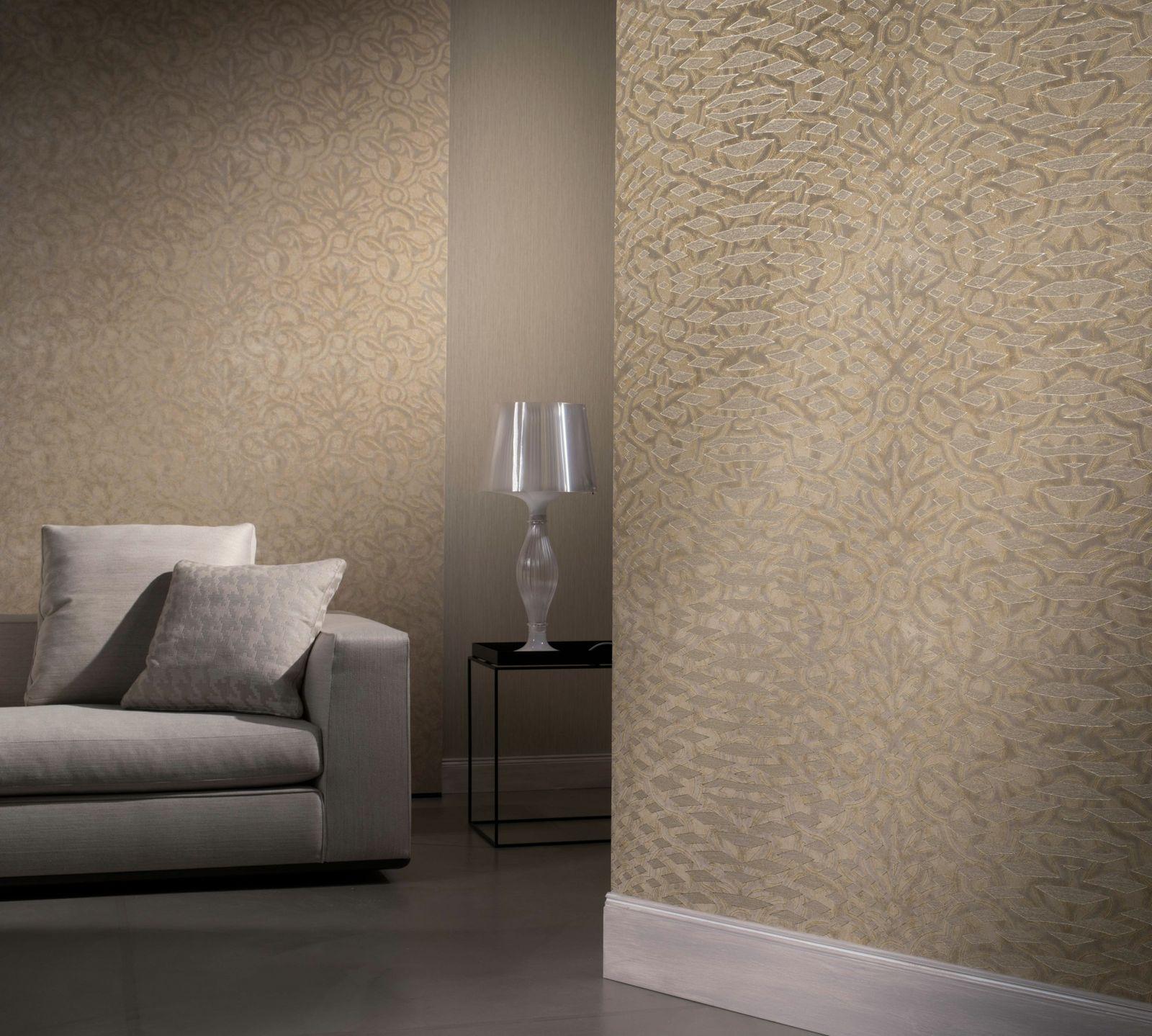 tapete design barock gold beige metallic vliestapete dieter langer view 55968. Black Bedroom Furniture Sets. Home Design Ideas