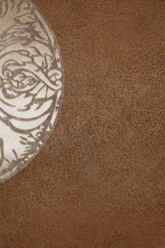 Tapete Vlies Blumen braun metallic Marburg Dieter Langer View 55946