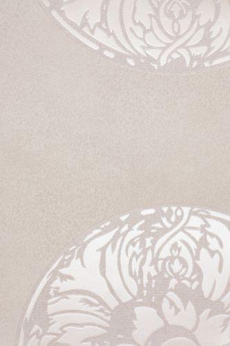 wallpaper design flowers creamgrey metallic non-woven wallpaper Dieter Langer View 55943 online kaufen
