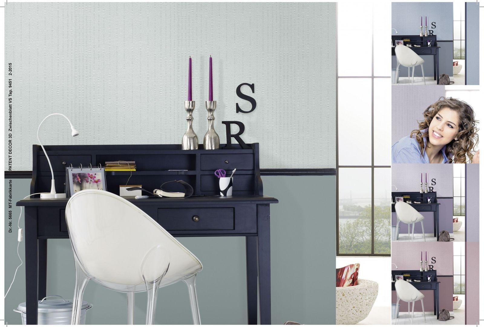 vliestapete berstreichbar streifen wei patent decor 3d 9451 5 53 1qm 4001860094518 ebay. Black Bedroom Furniture Sets. Home Design Ideas