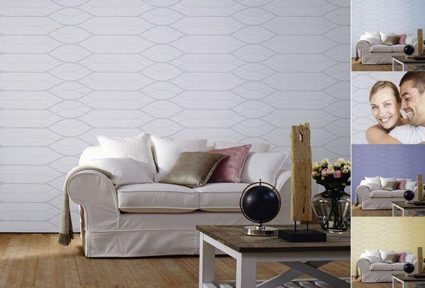 Vliestapete überstreichbar Design weiß Patent Decor 3D 9430 online kaufen