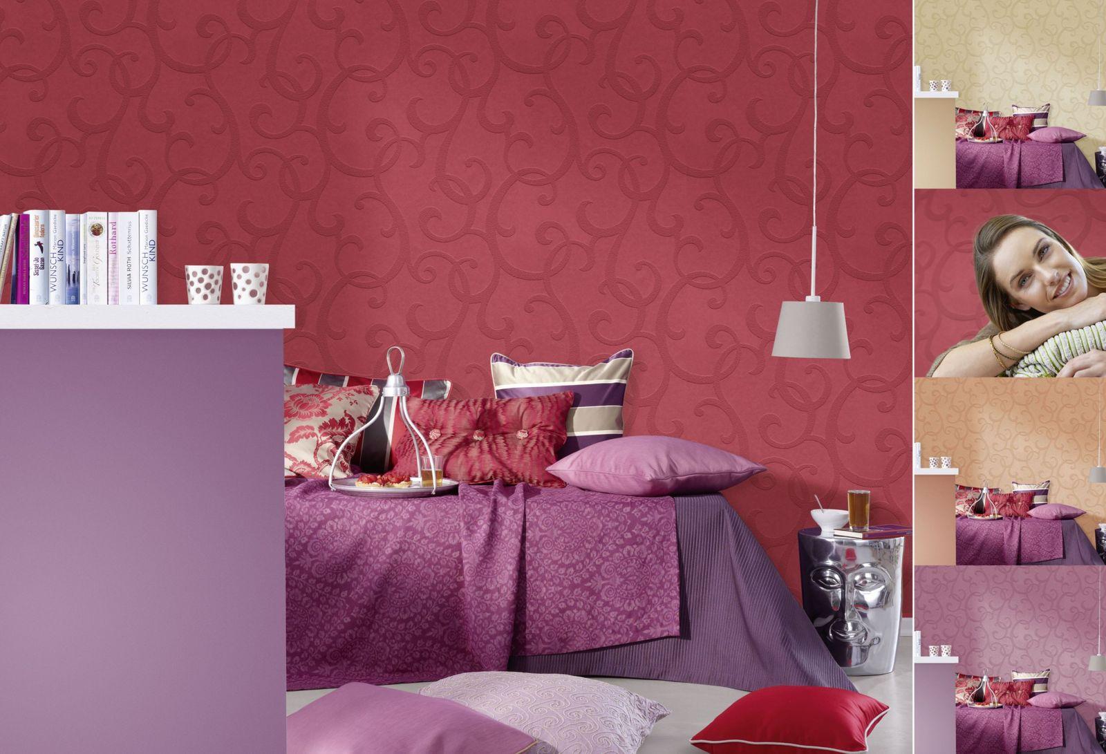 vliestapete berstreichbar ranken wei patent decor 3d 9431. Black Bedroom Furniture Sets. Home Design Ideas