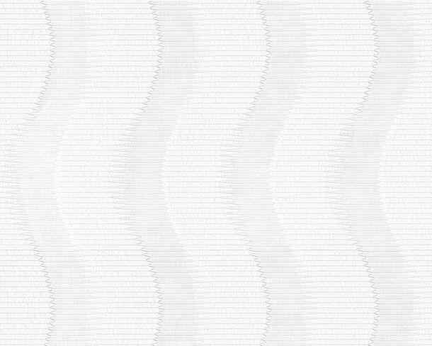 Tapete Vlies überstreichbar Streifen weiß AP Pigment 94445-1