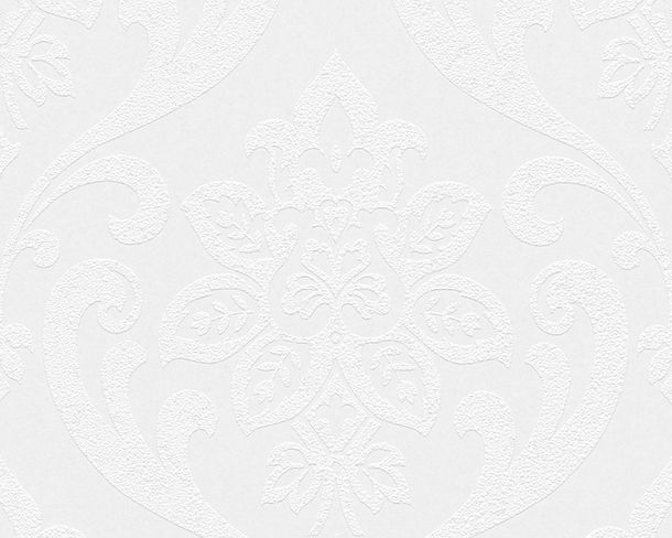 Wallpaper paintable baroque white Architects Paper Pigment 9566-13