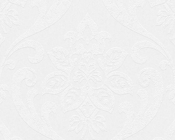 Tapete Vlies überstreichbar Barock weiß AP Pigment 9566-13