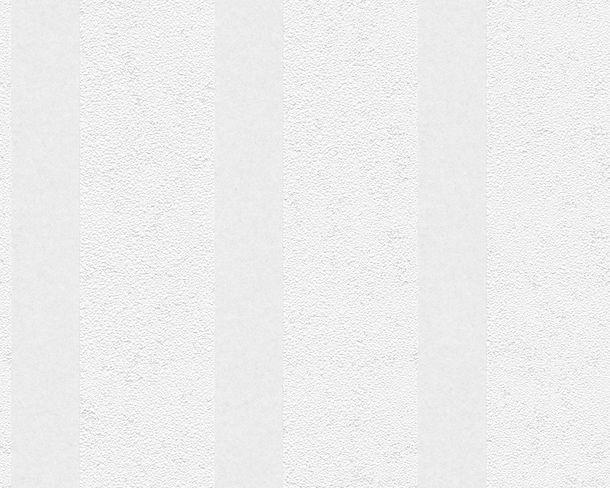 Tapete Vlies überstreichbar Streifen weiß AP Pigment 9571-15