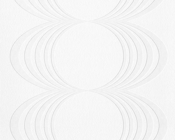 Tapete Vlies überstreichbar Kreise weiß AP Pigment 9589-14