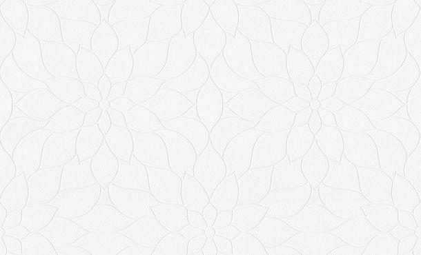 Tapete Vlies Groß-Rolle überstreichbar Floral weiß AP Pigment 9596-14