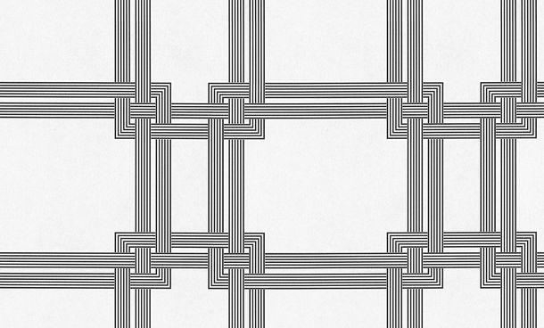 Tapete Vlies Groß-Rolle überstreichbar Design schwarz Pigment 95185-1