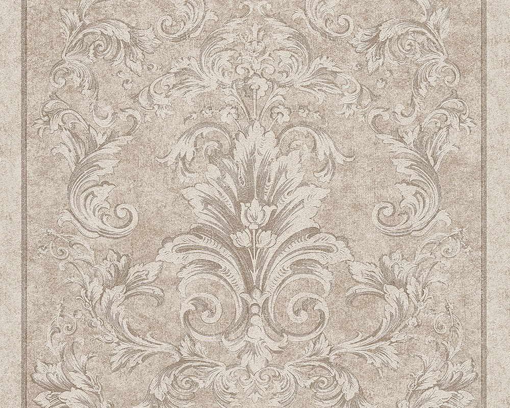 Tapete vlies barock floral silber grau as creation versace for Tapete silber grau