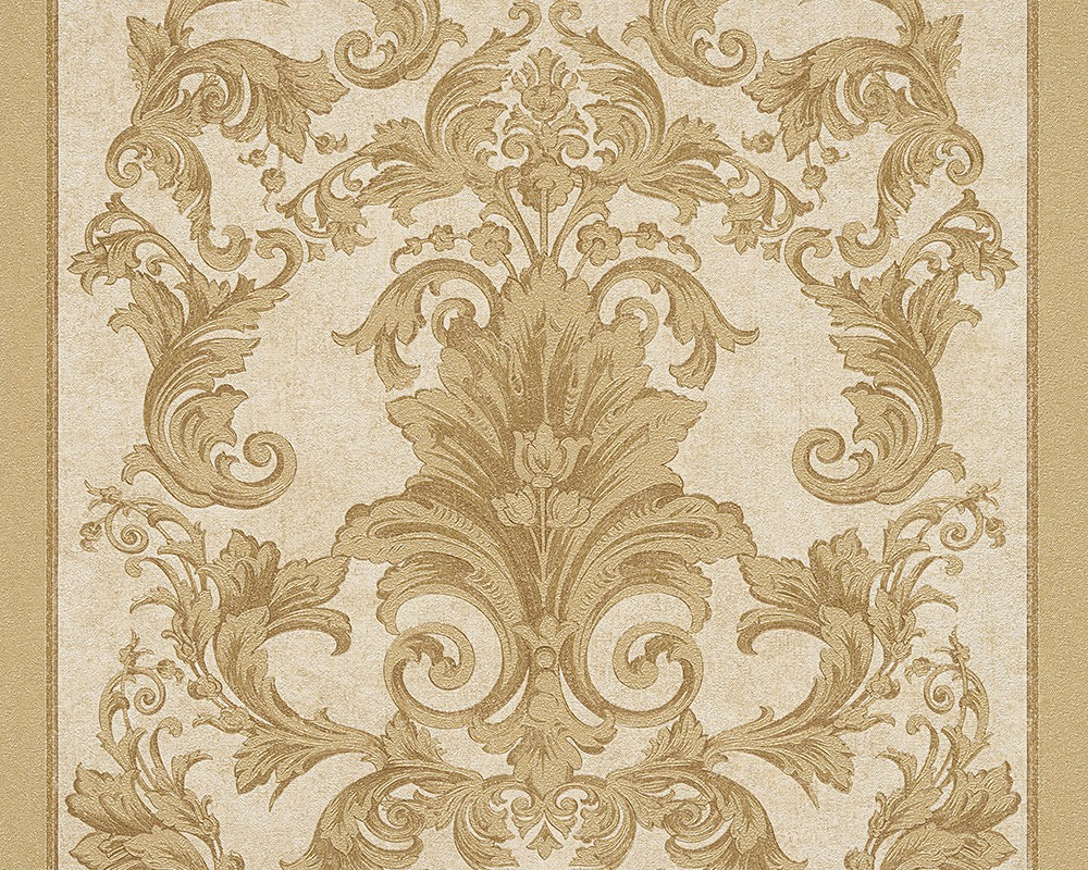 Wallpaper baroque gold cream as creation versace 96216 5 for Baroque style wallpaper