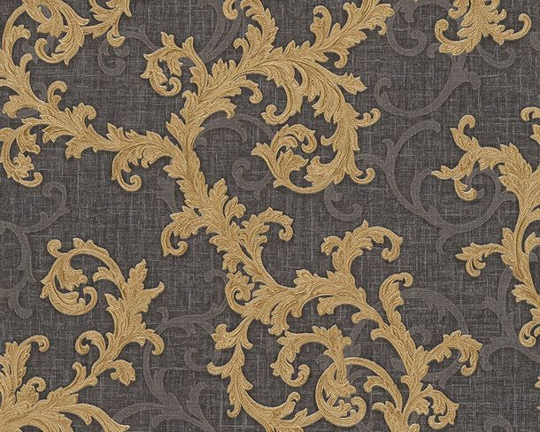 Tapete Vlies Barock anthrazit gold AS Creation Versace 96231-6 online kaufen