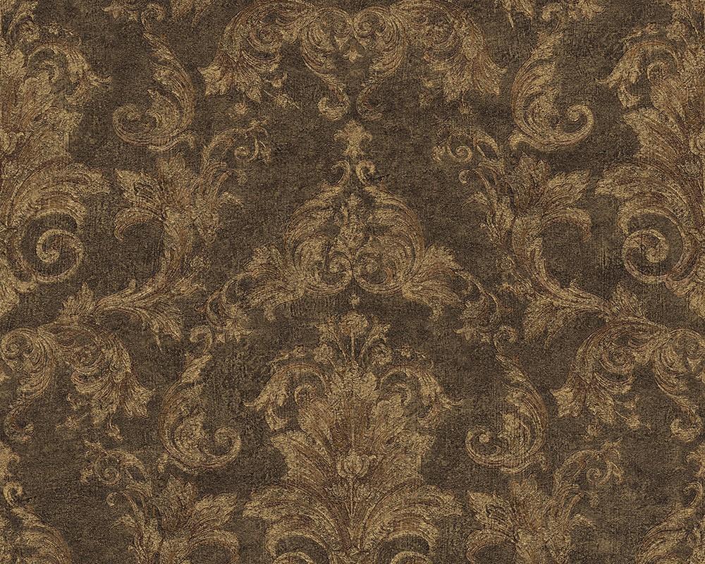 Wallpaper Baroque Green Brown As Creation Versace 96215 1