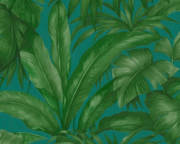 Wallpaper leafs turquoise AS Creation Versace 96240-6 online kaufen