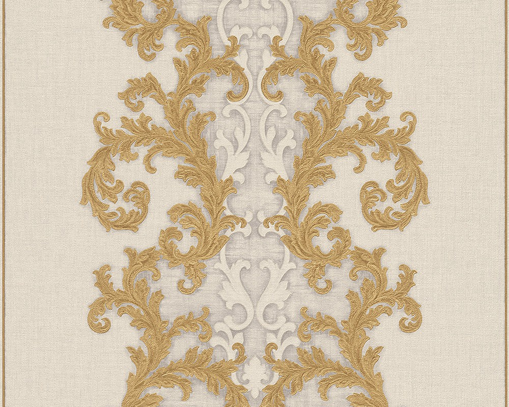 wallpaper baroque gold cream as creation versace 96232 4. Black Bedroom Furniture Sets. Home Design Ideas