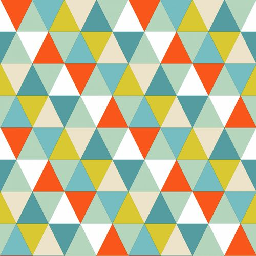 Non Woven Wallpaper triangle blue green red Everybody Bonjour 128708 online kaufen