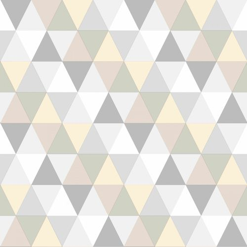 Non Woven Wallpaper triangle beige cream grey Everybody Bonjour 128707