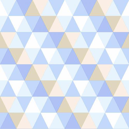 Tapete Vlies Dreiecke blau beige creme 138712 online kaufen