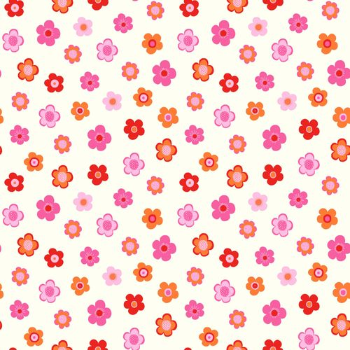 Non Woven Wallpaper flower pink red white Everybody Bonjour 138725 online kaufen
