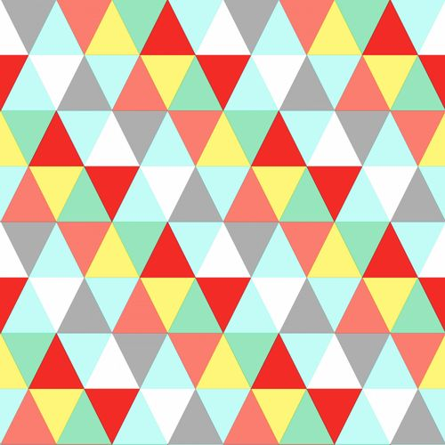 Non Woven Wallpaper triangle blue green yellow Everybody Bonjour 138715 online kaufen