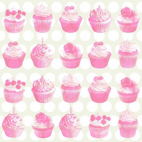 Tapete Vlies Cupcake Metallic rosa beige weiß Everybody Bonjour 138723 online kaufen