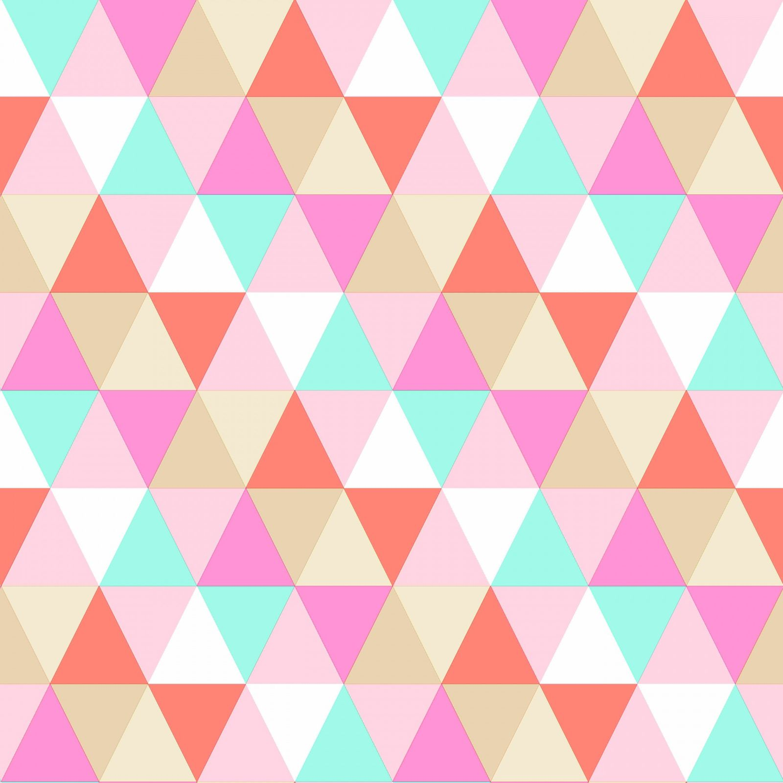 tapete vlies dreiecke rosa gr n braun everybody bonjour 138714. Black Bedroom Furniture Sets. Home Design Ideas