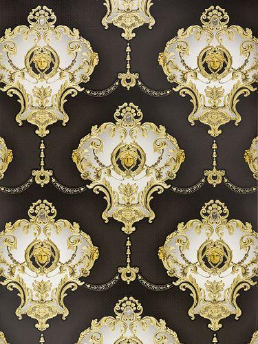 Wallpaper satin baroque Medusa glossy Hermitage 6553-70 online kaufen
