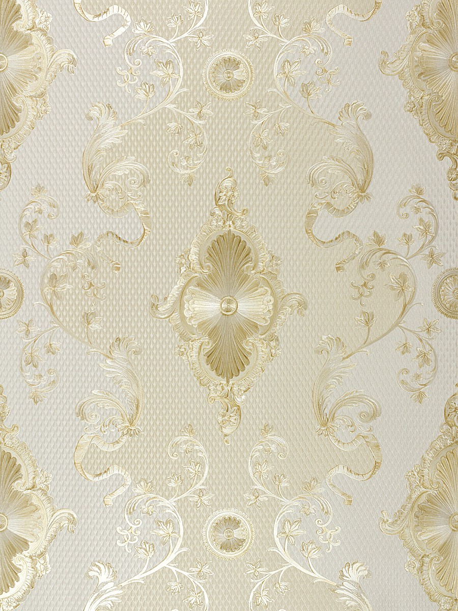Tapete satin barock glanz hermitage creme gold 6829 63 for Tapete barock