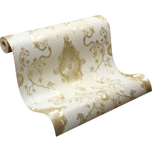 Wallpaper satin baroque glossy Hermitage cream gold 6829-63 buy online