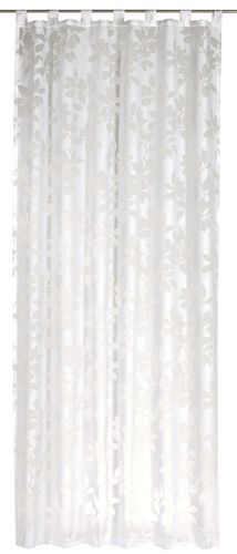 Spring Time loop curtain flower white semi-transparent Elbersdrucke 196776
