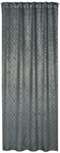 Loop curtain Equinox Design grey blackout fabric 196196 online kaufen