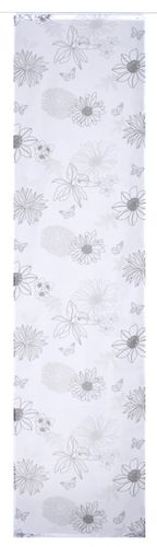 Panel-curtain 60x245 cm flower black transparent 190217 online kaufen