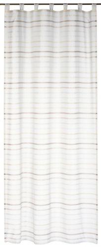 Schlaufenschal Streifen My Way 140 x 255 cm beige halbtransparent 196448 online kaufen