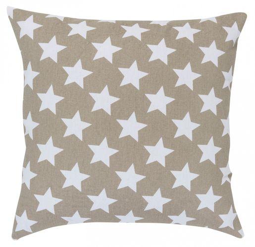 Kissen mit Füllung Sterne braun 45x45 cm 195915 online kaufen