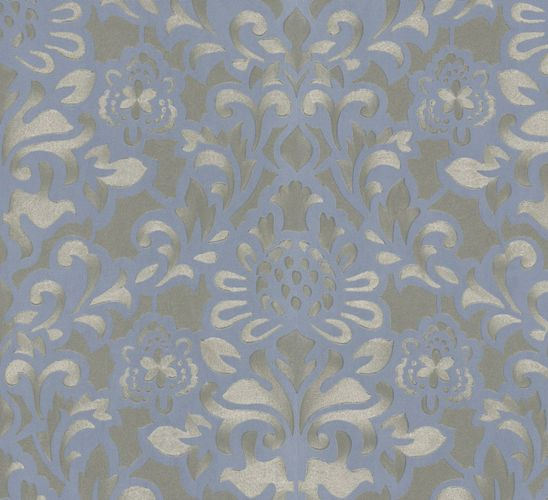 Wallpaper flower blue gold Marburg Opulence 56003 buy online