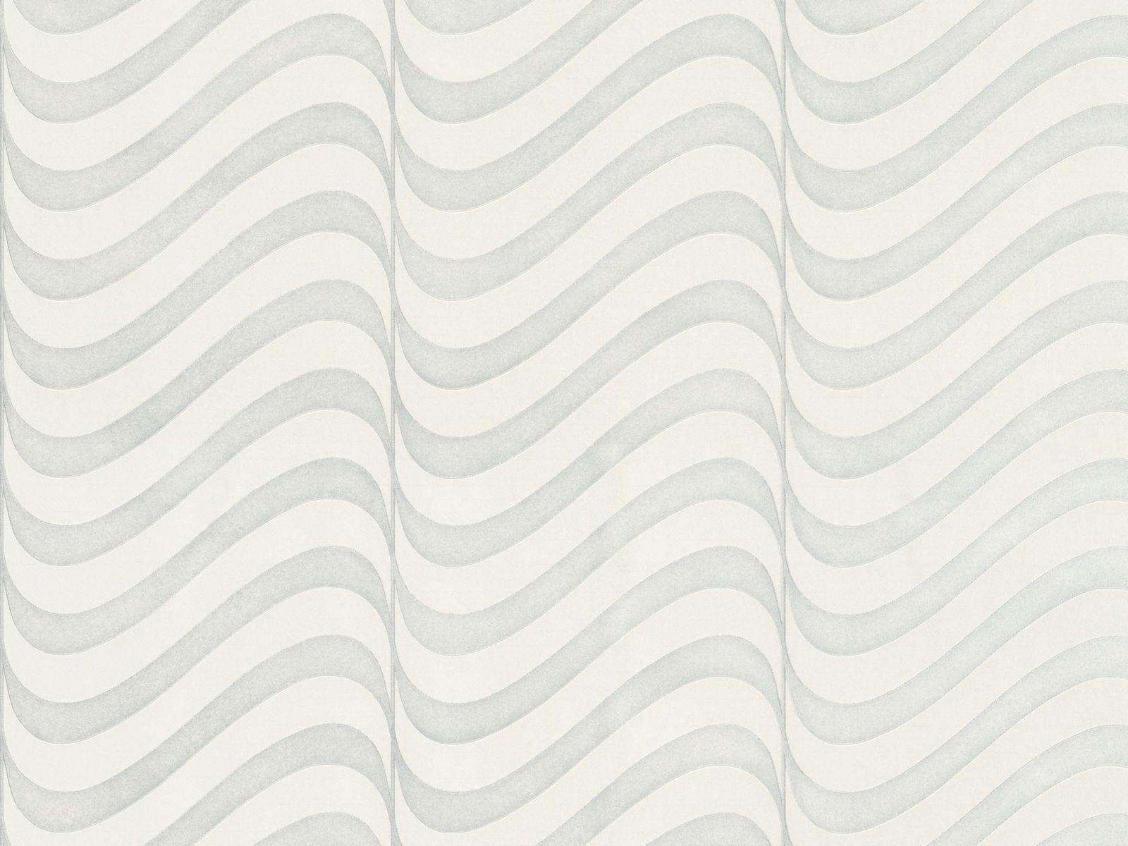 Tapete vlies grafisch silber marburg opulence 56002 for Tapete silber
