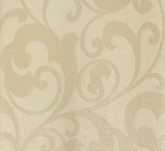 Tapete Vlies Blumen creme gold Marburg 56808
