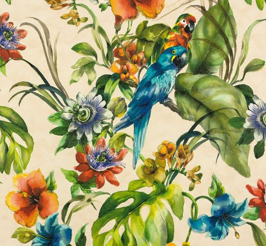 Vinyl Wallpaper Tropical Flowers rose colourful 30015-1 online kaufen