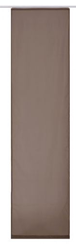 Panel curtain transparent uni brown 60x245cm 197209 online kaufen