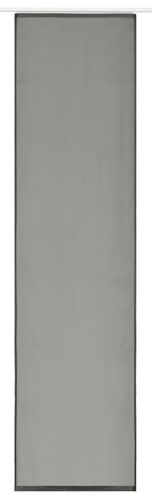 Panel curtain transparent uni grey 60x245cm 197216 online kaufen
