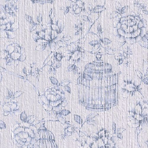 Wallpaper tendril Rasch Textil Paper Yarn white 076638 online kaufen
