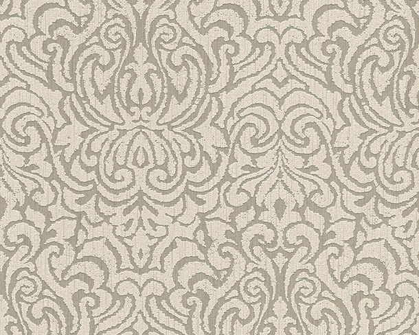 Wallpaper baroque beige grey Tessuto 96193-1 online kaufen