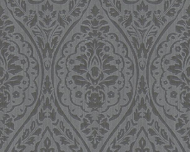 Wallpaper baroque black grey Tessuto 96195-7 online kaufen