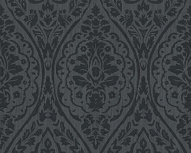 Wallpaper baroque black grey Tessuto 96195-9 online kaufen