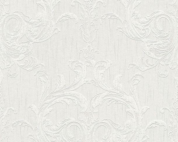 Tapete Vlies Barock weiß grau Tessuto 96196-1 online kaufen